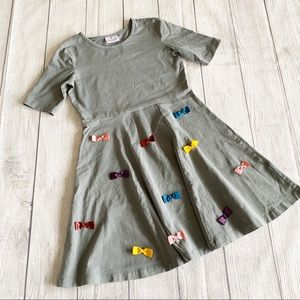 Hanna Andersson gray dress with bows